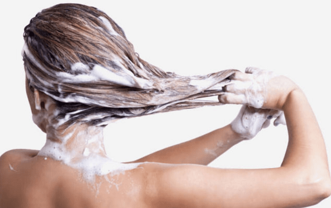 Shampoo Hair with Warm Water