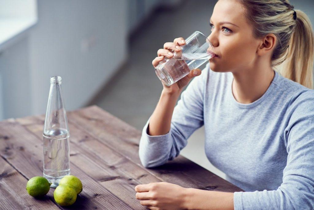 drink lots of water to get rid of sleepy eyes