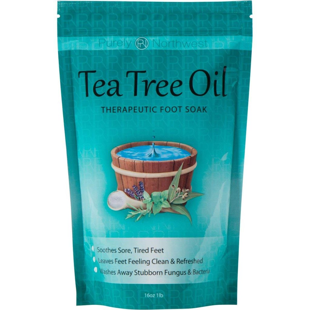Tea Tree Oil Foot soak with Epsom Salt for Ingrown Toe Nail