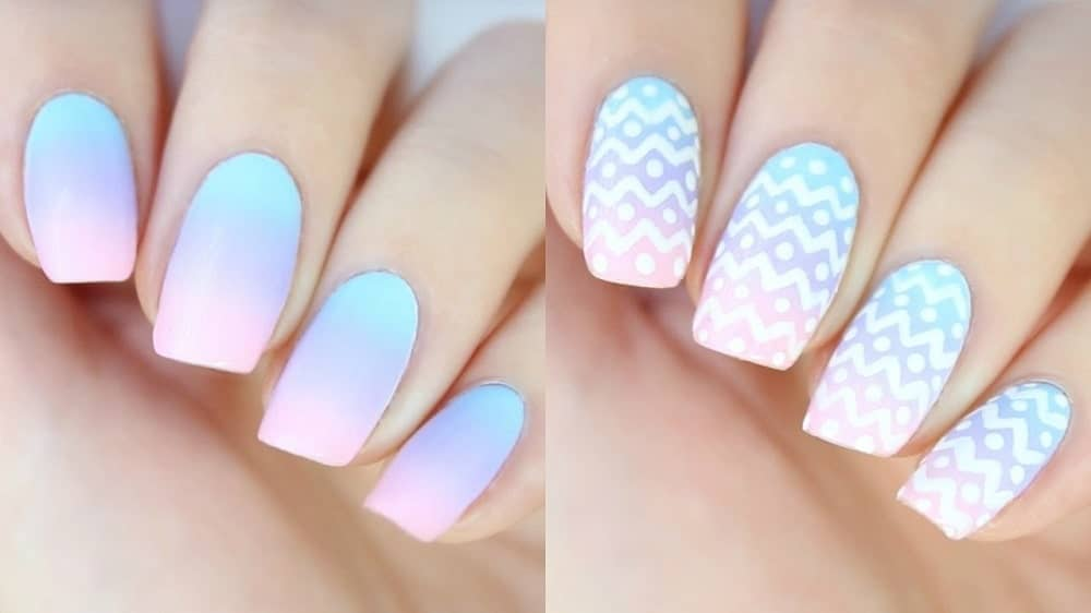 How To Do Ombre Nails At Home Diy Gradient Nails Ombre Nails