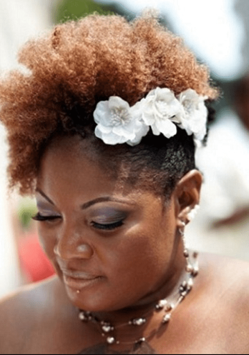african undercut - best hairstyle for black women with chubby face and double chin