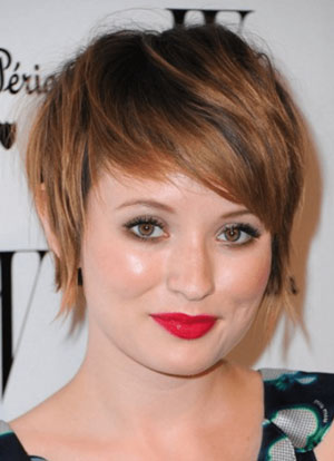 Short Hairstyle for with Fat Face and Double Chin - Tapered Pixie Cut