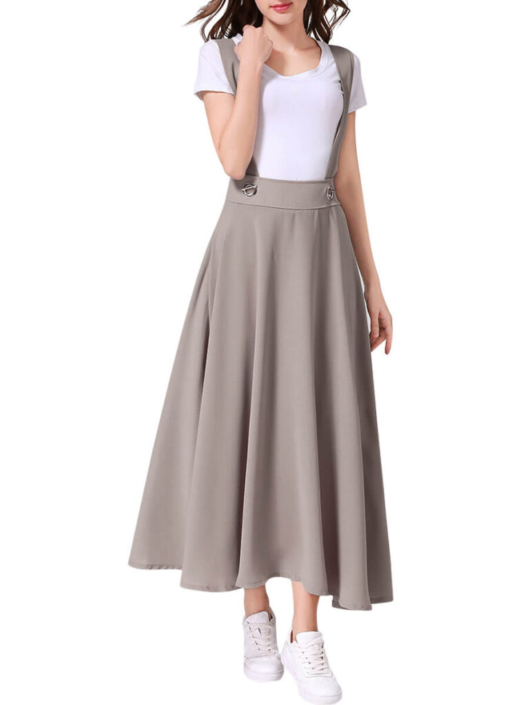 Suspender with maxi Skirt