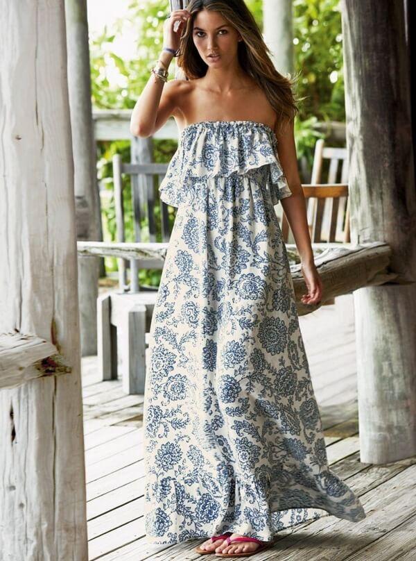 Wearing a long dress