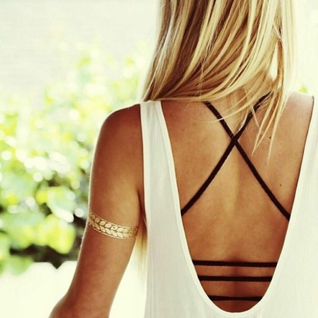 Bralette with backless dress