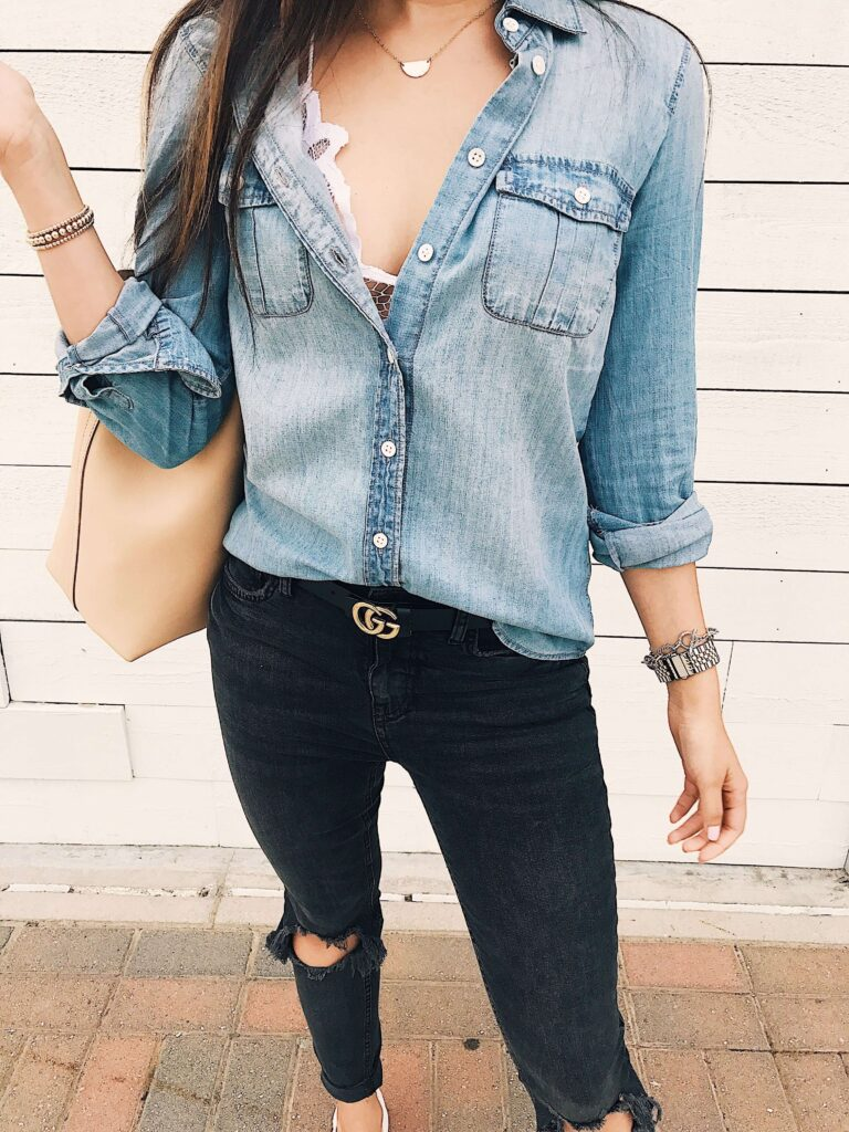 Bralette With A Button-Up