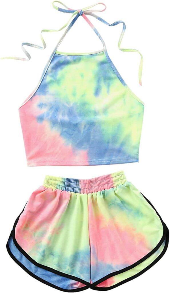 Halter Crop Top and Shorts Set