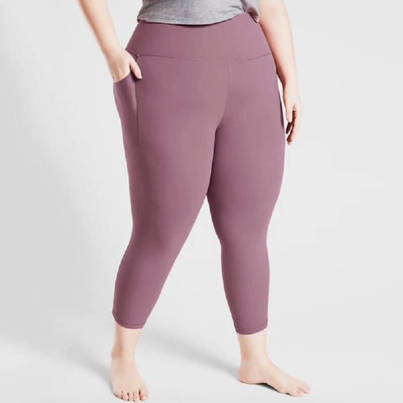 high waist fitness pants for plus size