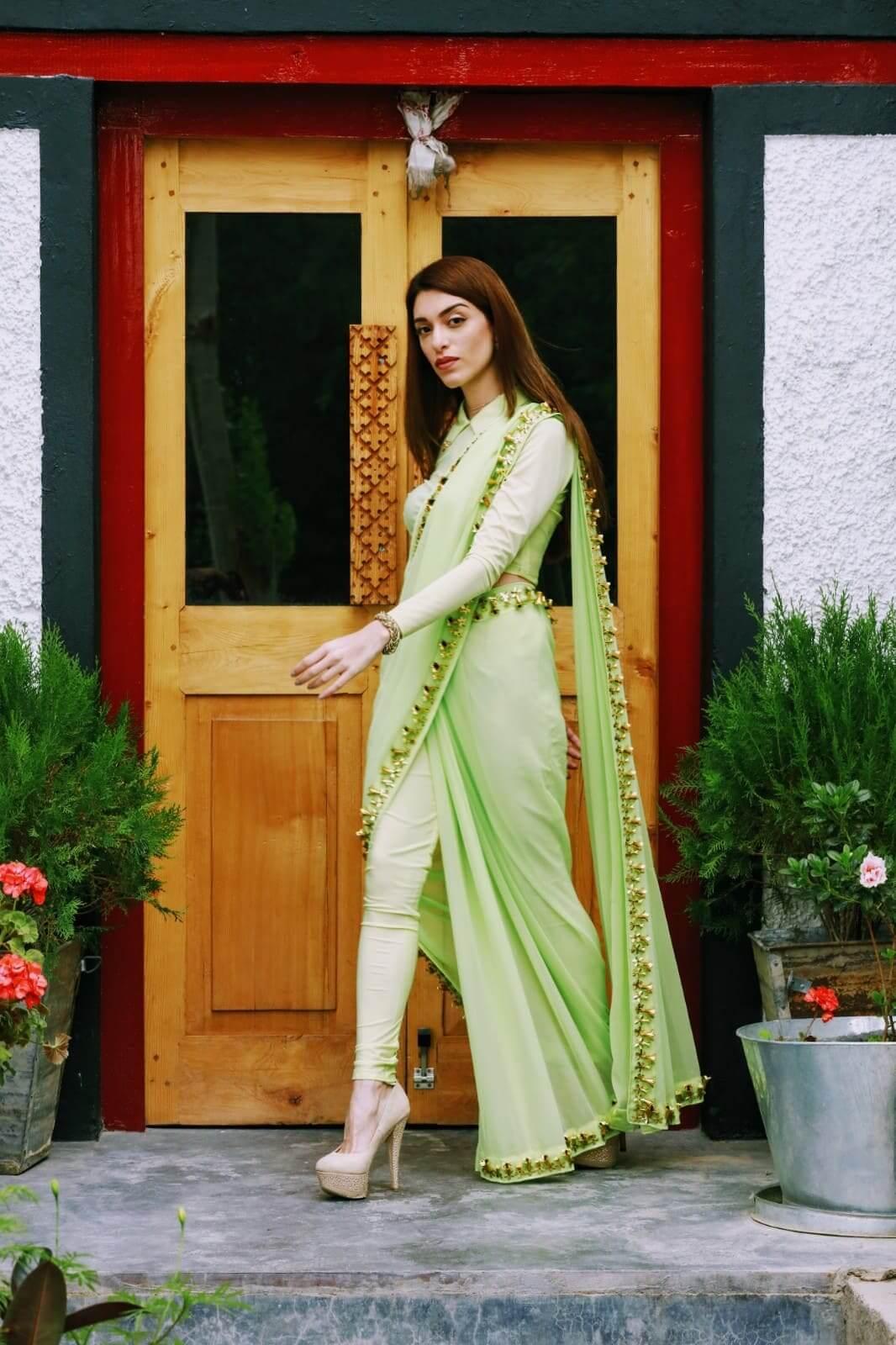 Pant style saree