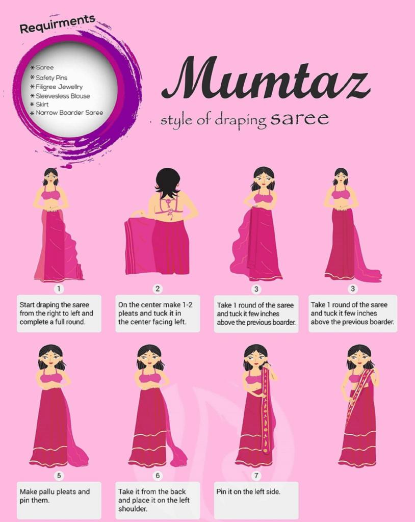 Mumtaz Style Saree drapping