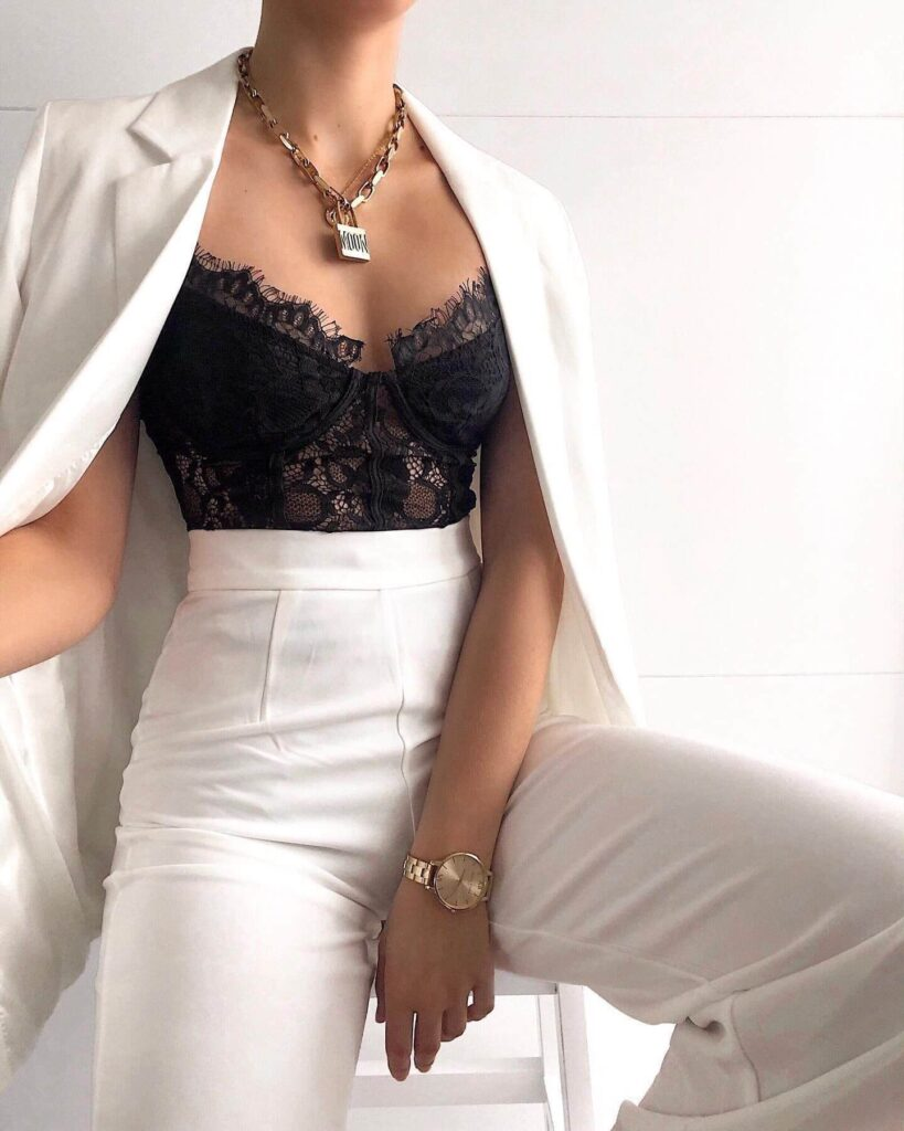 Style bralette with outfits