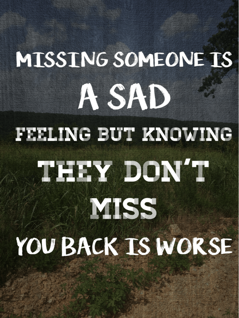 What to do when you miss someone who doesn't miss you