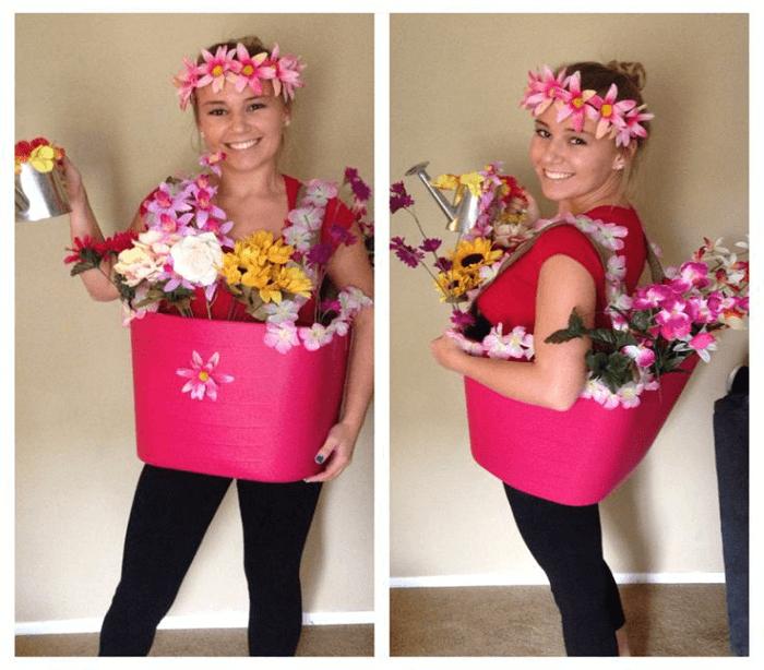 DIY Flower Pot Halloween Costume