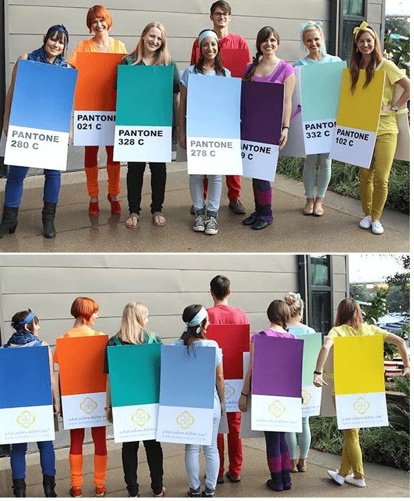DIY Pantone Color Card Halloween Costume