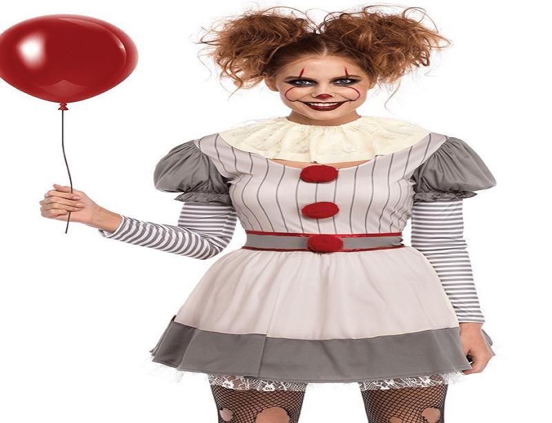 DIY Vintage Clown Halloween Costume