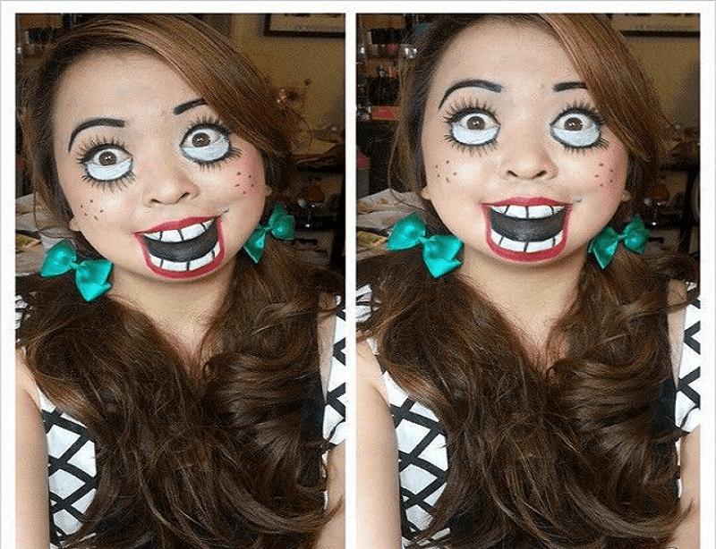 Creepy Doll makeup and Costume
